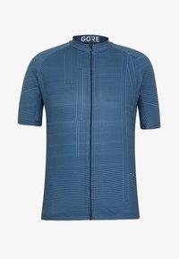 Gore Wear - LINE BRAND TRIKOT - T-shirt z nadrukiem - deep water blue/orbit blue - 4