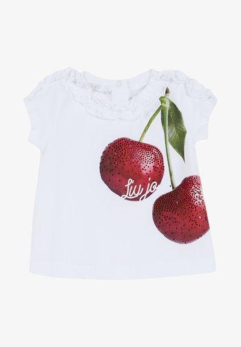 WITH CHERRY - T-shirt print - white