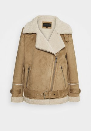 COMMUNITY - Faux leather jacket - beige