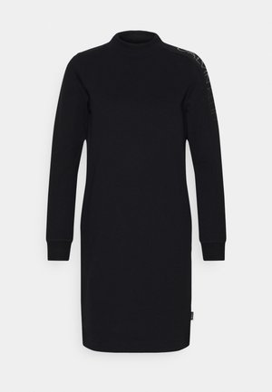 FUNNEL NECK LOGO DRESS - Pouzdrové šaty - black