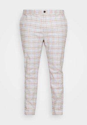 CHECK - Trousers - stone/tan