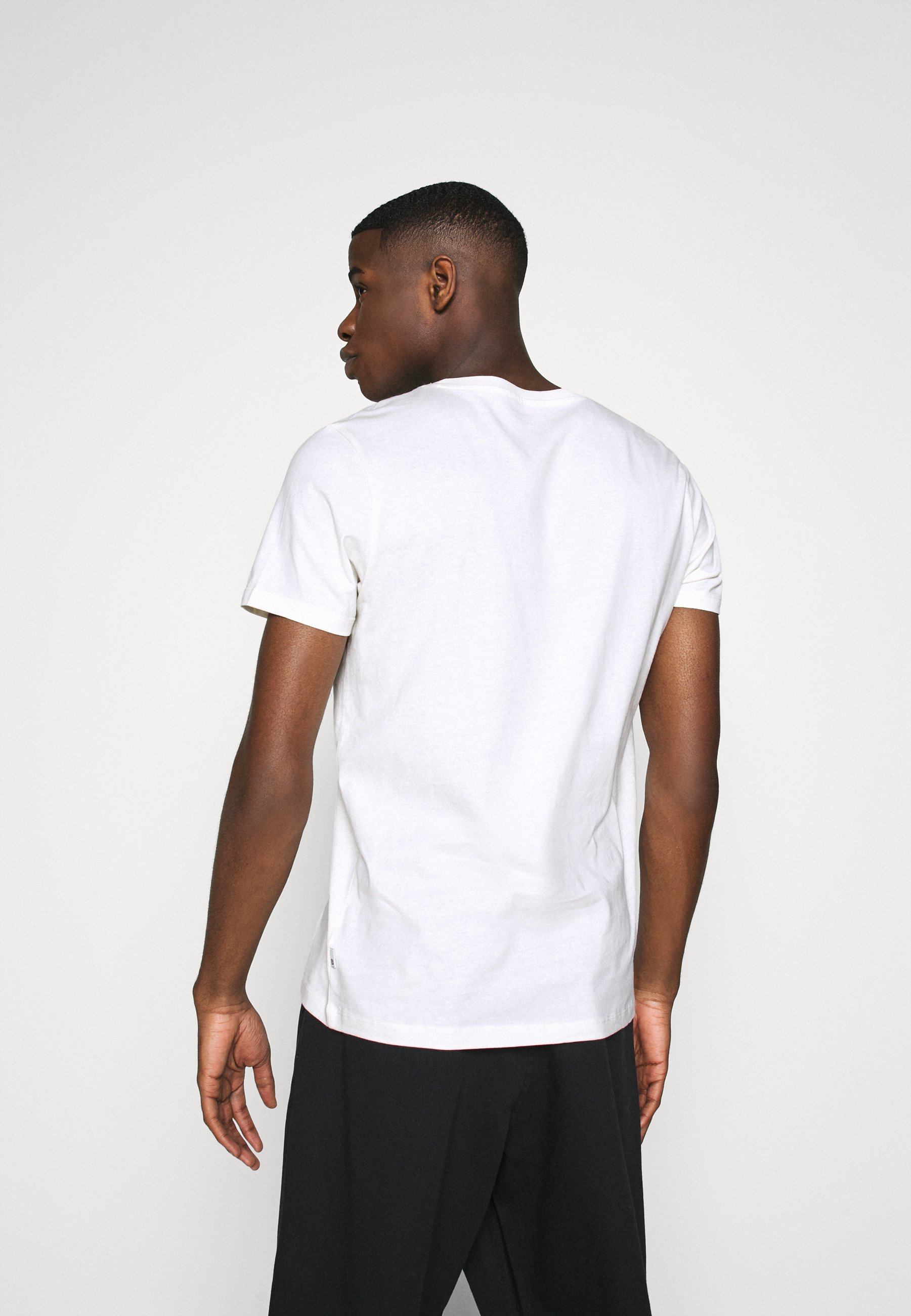 Burton Menswear London Short Sleeve Crew 5 Pack - T-shirts Off White/white/mustard/light Grey Marl/charcoal Marl/navy Marl/offwhite