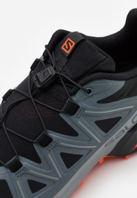 Salomon - SPEEDCROSS 5 - Scarpe da trail running - black/stormy weather/red orange - 5