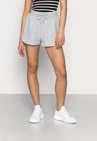Even&Odd Petite - PETITE 2 PACK - Shorts - black/mottled light grey - 2