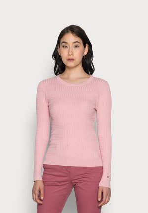 CABLE  SWEATER  - Jumper - glacier pink
