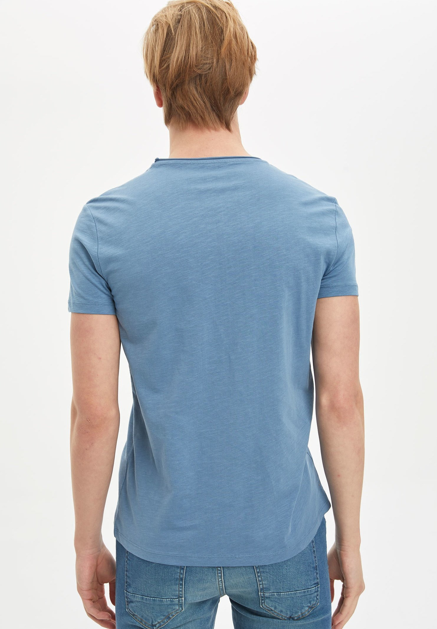 DeFacto Basic T-shirt - blue eMOL1