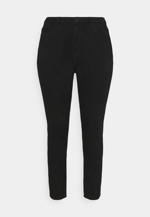 WRATH HIGH WAISTED - Džíny Straight Fit - black