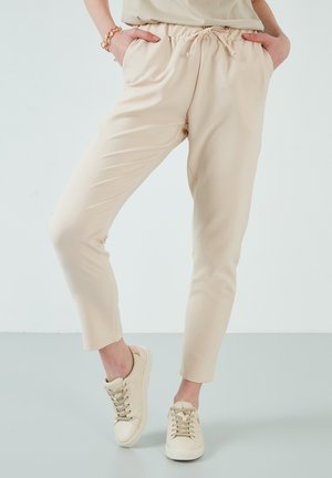 Trousers - stone colored