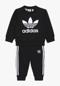 adidas Originals - CREW SET UNISEX - Träningsset - black/white - 0