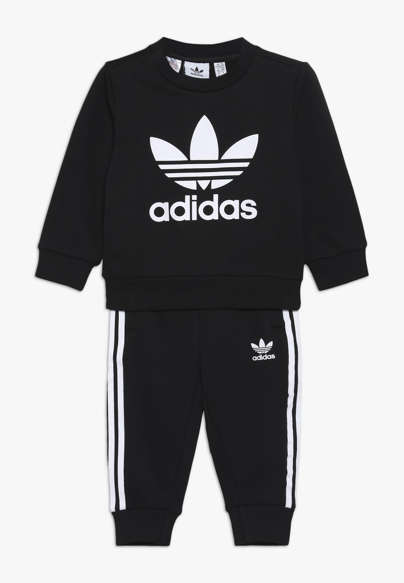 adidas Originals - CREW SET UNISEX - Träningsset - black/white