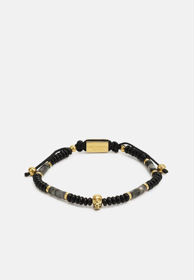 SHEEN ONSIDIAN ATTICUS SKULL MACRAMÉ BRACELET UNISEX - Armband - black/gold-coloured