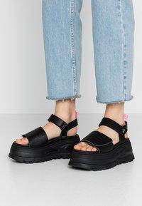 Coolway - GRAVITY - Platform sandals - black - 0
