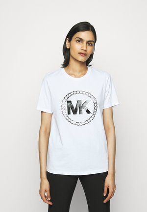 CHAIN LOGO - Print T-shirt - white