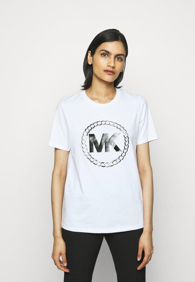 CHAIN LOGO - T-shirt imprimé - white