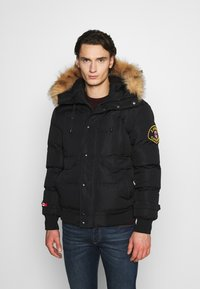Alessandro Zavetti - ZAVETI CANADA TURVENO BOMBER - Winter jacket - black - 0