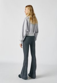 PULL&BEAR - Trousers - mottled dark grey - 2