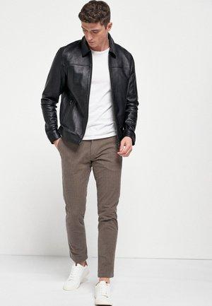 SIGNATURE HARRINGTON  - Leather jacket - black