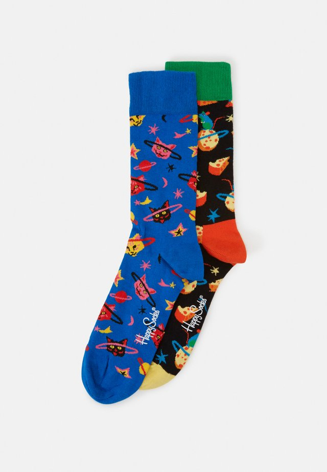 MOON MOUSE SPACE CAT SOCK 2 PACK - Ponožky - black