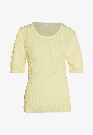 KATTIE - Basic T-shirt - pale banana