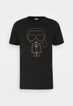 CREWNECK - T-Shirt print - black/gold