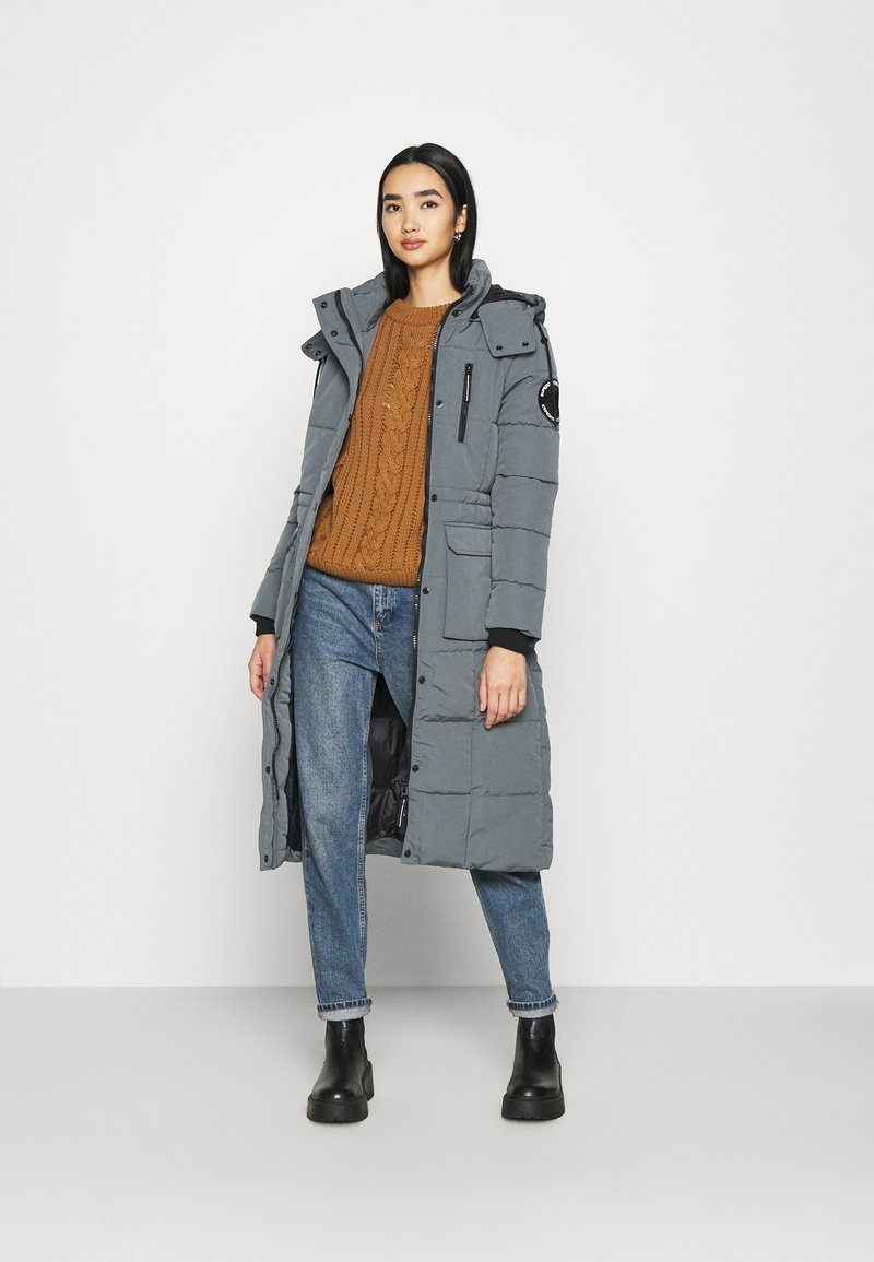 Superdry - LONGLINE EVEREST COAT - Winter coat - slate