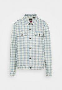 Kickers Classics - GINGHAM JACKET - Denim jacket - cream/blue - 0