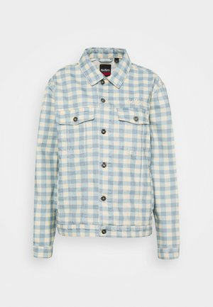 GINGHAM JACKET - Denim jacket - cream/blue