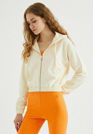 Zip-up hoodie - pearled ivory