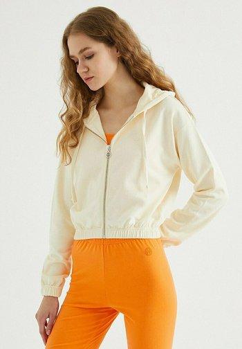 Zip-up sweatshirt - pearled ivory