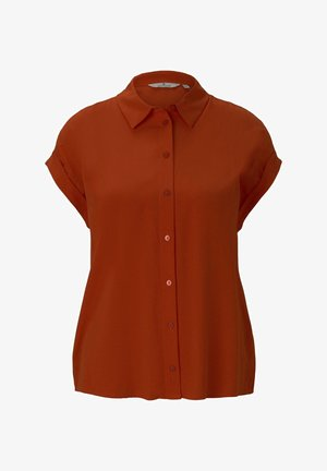 Button-down blouse - strong flame orange