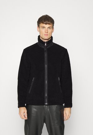 JACKET - Giacca in pile - black