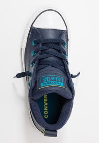 Converse - CHUCK TAYLOR ALL STAR STREET WARMTH - Sneakers high - obsidian/green abyss/bold lime - 1