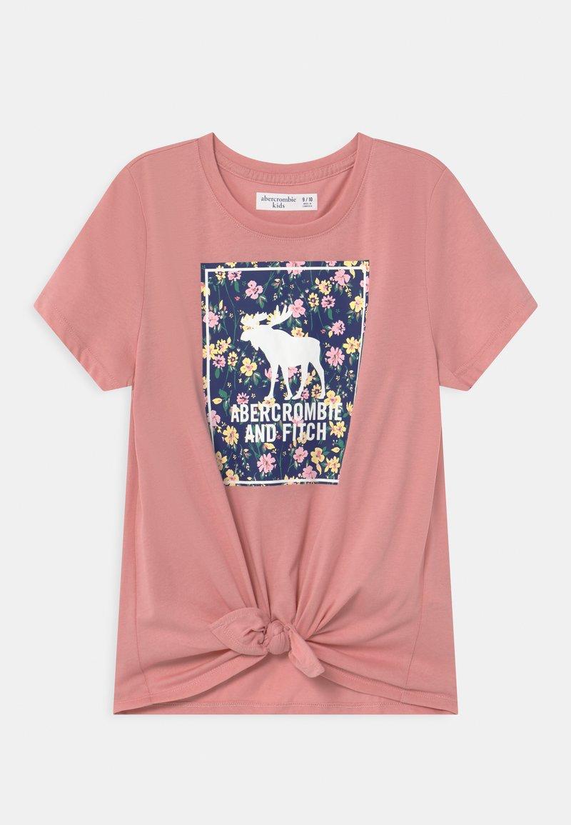 Abercrombie & Fitch - Camiseta estampada - pink
