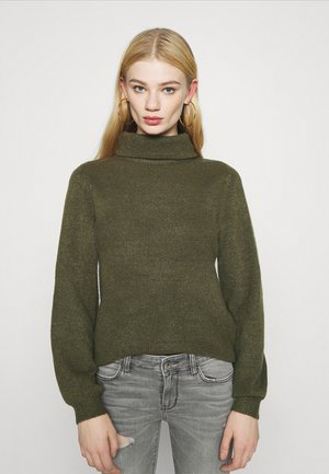 OBJEVE NONSIA ROLLNECK - Jumper - forest night melange