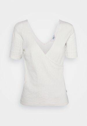 WRAP TEE - Print T-shirt - ecru