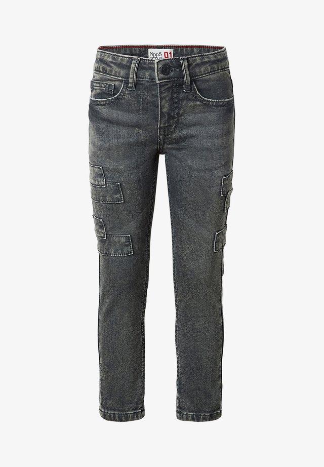 KATLEHONG - Jean droit - dark grey wash