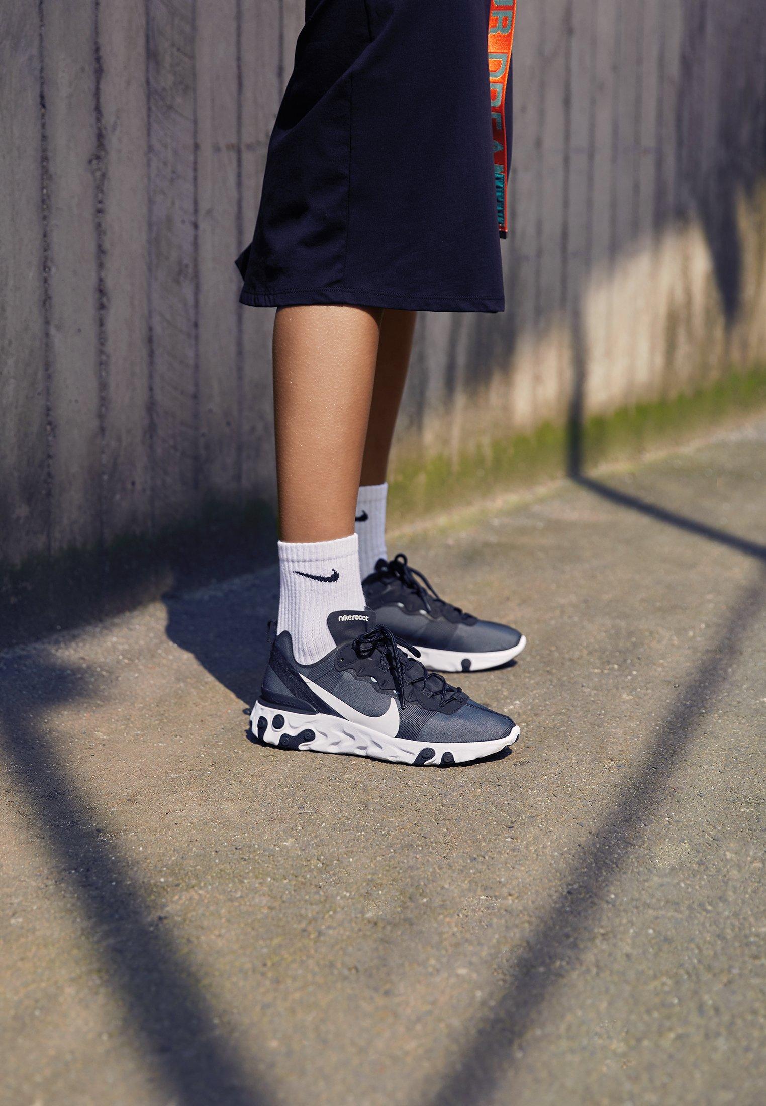 Nike Sportswear React 55 - Zapatillas Black/white