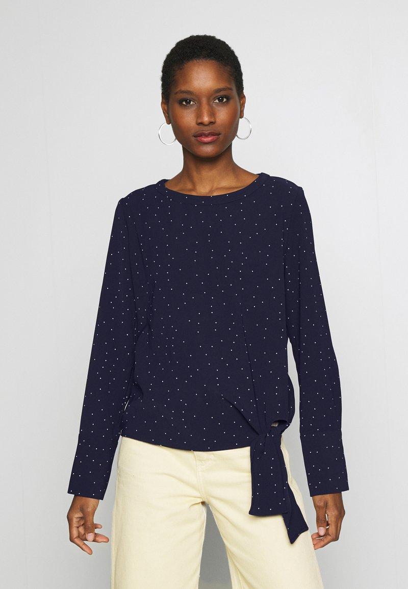 Opus - FLOTA DOT - Long sleeved top - just blue