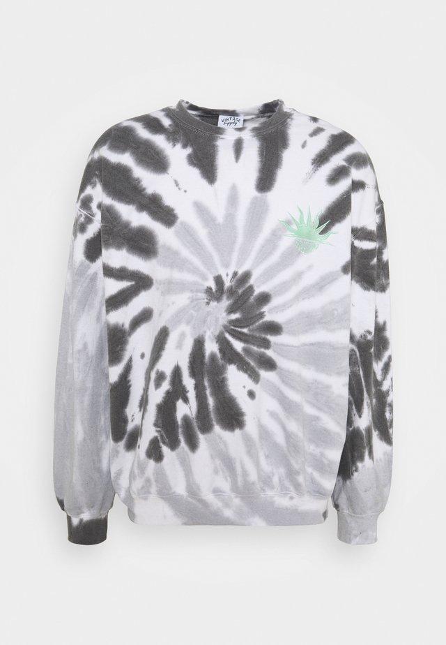 SPIRAL MONCHROME SUN LOGO UNISEX - Sweatshirt - black/white