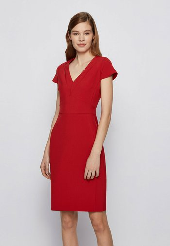 DILIRA - Shift dress - red