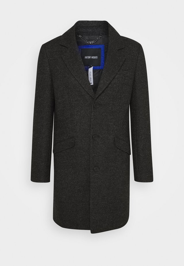 LONG COAT - Kåpe / frakk - dark grey melange
