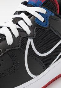 Nike Sportswear - AIR FORCE 1 REACT - Trainers - black/dark smoke grey/laser crimson/voltage purple - 5