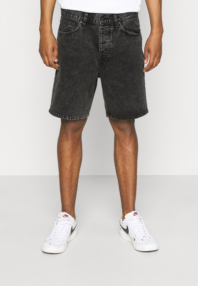 NEWEL PARKLAND - Denim shorts - black worn