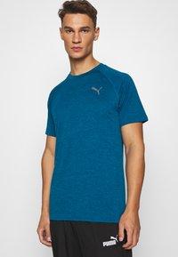Puma - HEATHER TEE - T-shirt basic - digi-blue heather - 3