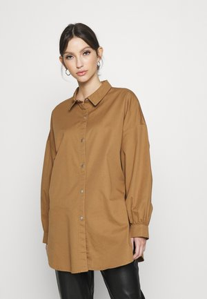 JDYMIAMI OVERSIZED - Button-down blouse - toasted coconut