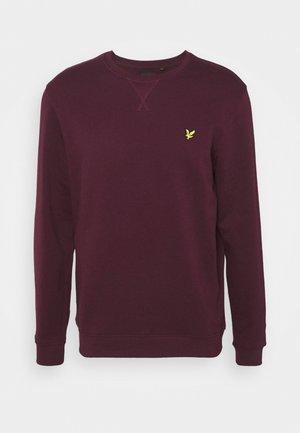CREW NECK  - Sweatshirt - burgundy