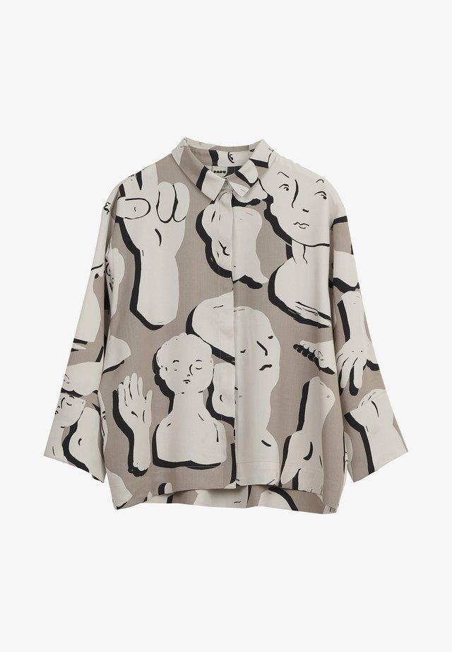 BOHEME SCULPTURES - Button-down blouse - grey