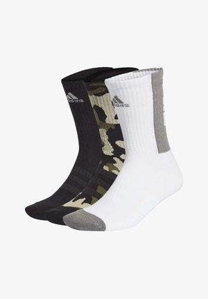 TIRO 21 3-STRIPES CUSHIONED CREW SOCKS 3 PAIRS - Socks - blue