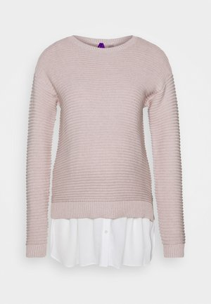IONA SET - Cardigan - blush/ white