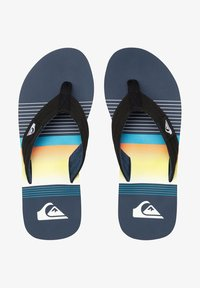 Quiksilver - MOLOKAI LAYBACK - Pool shoes - black/blue/black - 1